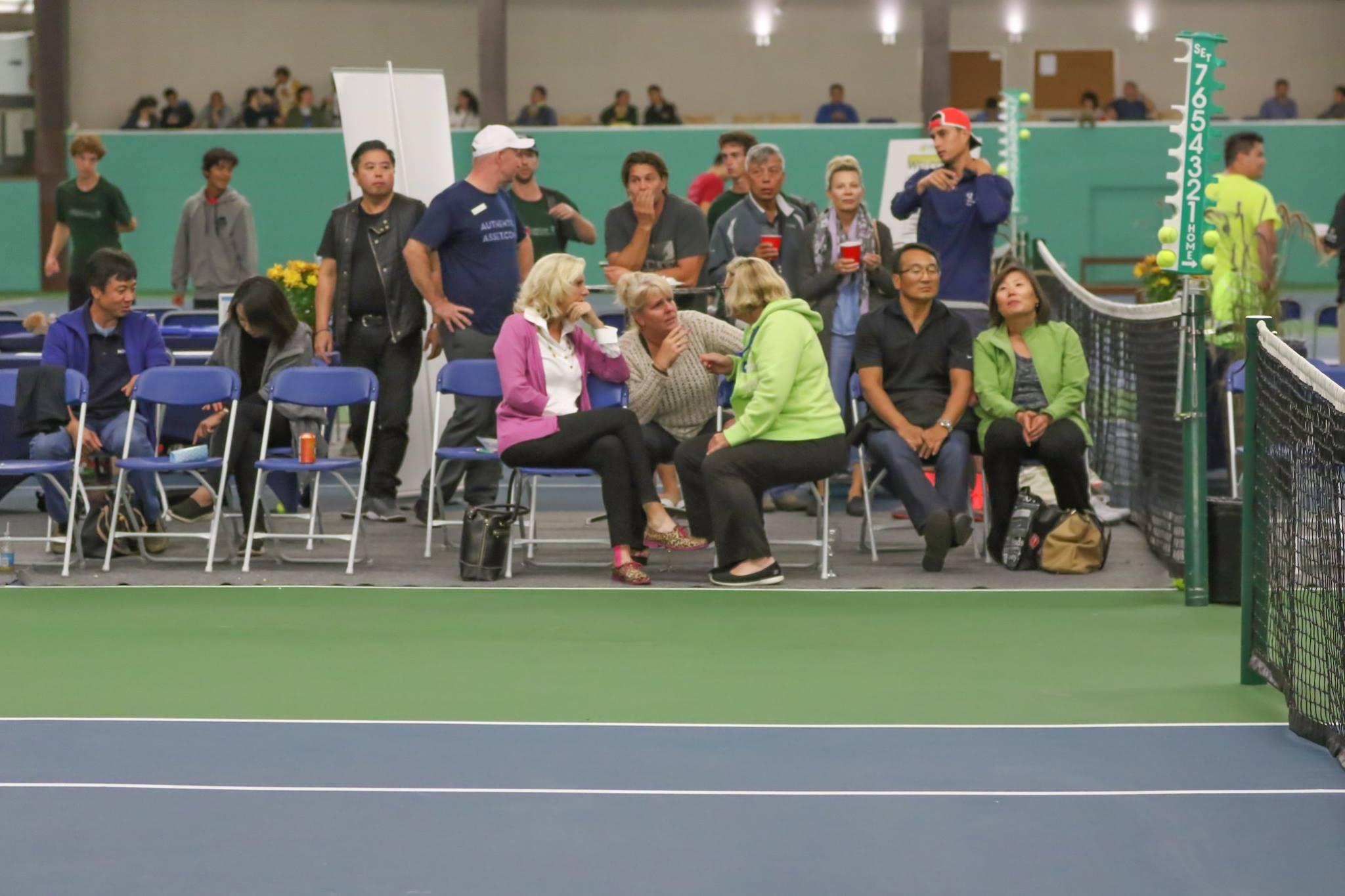 Spectators watch Tennis at Mayfair East
