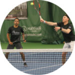Olevia Players Hitting the Ball